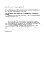 W8 Writing Assignment-Intellectual Property Audit.docx