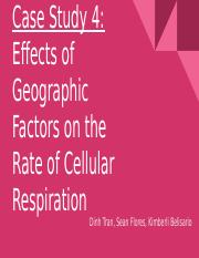 Effects of Geographic Factors on the Rate of Cellular Respiration .pptx