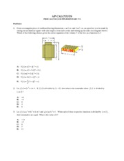 PRECALCULUS SUPPLEMENTARY VI
