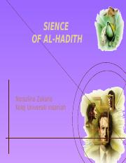 SCIENCE OF hADITH_latest
