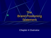 Chapter 4 Brand Positioning