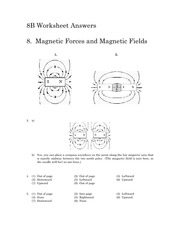 Soln8 - Magnetic Forces and Magnetic Fields