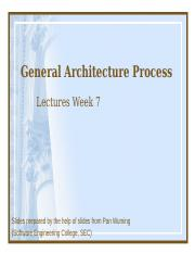 general architecture process week 7