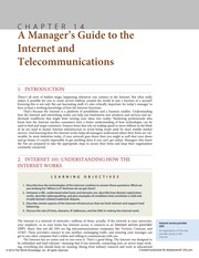 Chapter 14 A Manager's Guide to the Internet and Telecommunications