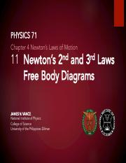 1.11 Newtons 2nd and 3rd Laws, Free Body Diagrams