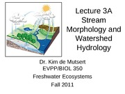 Stream Morphology and Watershed Hydrology