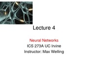 lecture 4 on Machine Learning