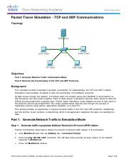 Everson_9.3.1.2 Packet Tracer Simulation - Exploration of TCP and UDP Communication.pdf