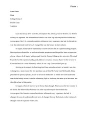 Eden Plante - profile essay (college comp I) first draft