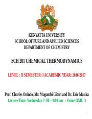 1-SCH 201 Chemical Thermodynamics-2016