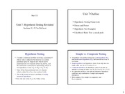 Unit 07 - Hypothesis Testing Revisited - 4 per page