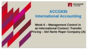ACCG835 Week 6 - new template - REVISED Management control in an international context transfer pric
