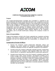 Compensation Organization Committee Charter (Amended 2014Nov20) Final