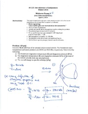 Sample 1 Midterm 2 Solutions