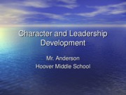 Character and Leadership Development