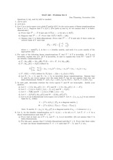 Problem set 6 and solutions
