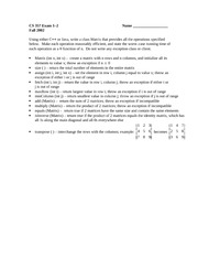 Exam 1-2 Fall 2002 on Data Structures