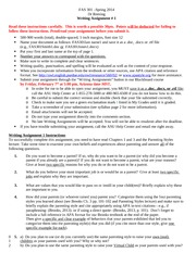 FAS 301 Writing Assignment 1 Instructions-Spring 2014-2