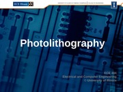 6. Photolithography