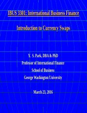 IBUS 3301 3-23-16 Currency Swaps.ppt