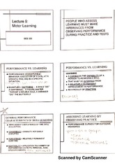 Motor learning notes