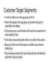 Customer Target specification.pptx