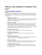 What are some landmark US Supreme Court cases.docx