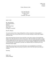 Unit 4 Assignment 1 Create a Business Letter