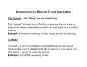 Lecture Notes for simulation