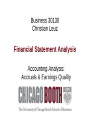 Week 5 Accounting Analysis - Accruals