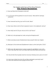 History Channel French Revolution Sheet Pdf The French Revolution U2013 History Channel Worksheet Name Period Date Directions Fill Out The Questions Course Hero