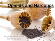 2013-10-23 Opioids and Narcotics