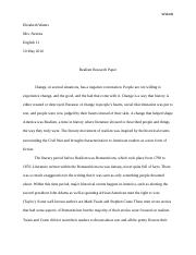 Realism Research Paper