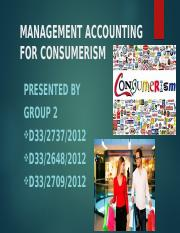 Group 2-Management Accounting for Consumerism