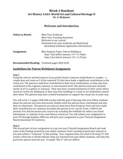 Week 1 Handout Introduction