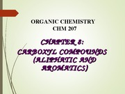 CHAPTER 8-CARBOXYL COMPOUNDS
