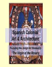 Spanish Colonial Art & Architecture.ppt