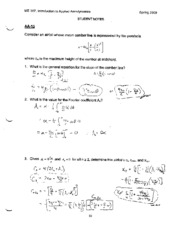 Student Notes Solution - LSN 17 - Cambered Airfoils
