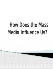 How Does the Mass Media Influence Us - Women in the Media.pptx