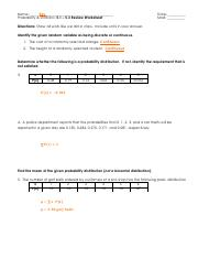 5.1 - 5.3 Review Worksheet