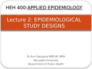 Lecture 2_Epidemiological Study Designs