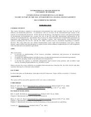 ECI Core Course Outline 2008-09_Environmental Law