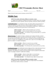 Civics and Econ SOL Review   Civics and Economics SOL Review Sheet