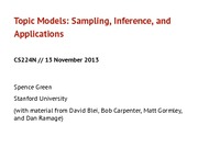 topic models and sampling