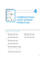 Chapter 4 Homework Solutions on Combinational Logic Design Principles