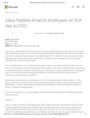 Satya Nadella email to employees on first day as CEO _ News Center