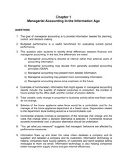 CH 1- Managerial Accounting in the Information Age homework solutions