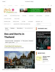 Dos and don'ts in Thailand.pdf