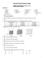 Chemistry CFE Review Guide