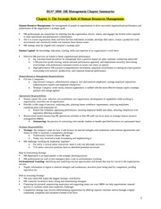 BUS 3000- HR Management Chapter Summaries